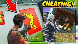 I used a WALL HACK GLITCH against PRO PLAYERS in the tournament.. (Fortnite Battle Royale)