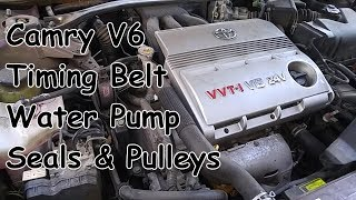Toyota Camry V6 3MZ-FE Timing Belt, Water Pump, Seals & Pulleys Replacement