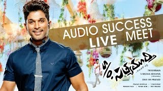 S/o Satyamurthy || Audio Success Meet LIVE || Allu Arjun, Upendra, Samantha, Trivikram Video