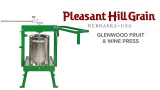Glenwood apple cider/fruit press with stainless steel basket