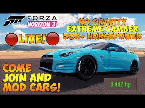 Forza Horizon 3 - MODDING CARS LIVE - 20,000+HP, EXTREME CAMBER, NO GRAVITY AND MORE! thumbnail
