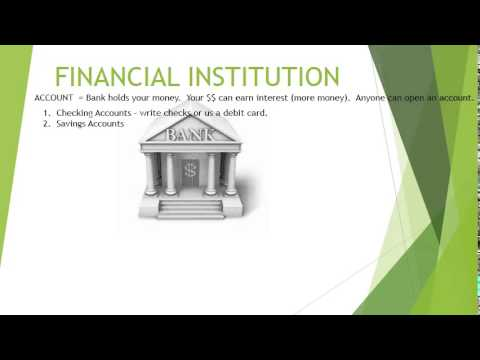 FINANCIAL INSTITUTION PPT