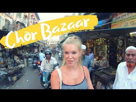 English Girl Explores CHOR BAZAAR   MUMBAI
