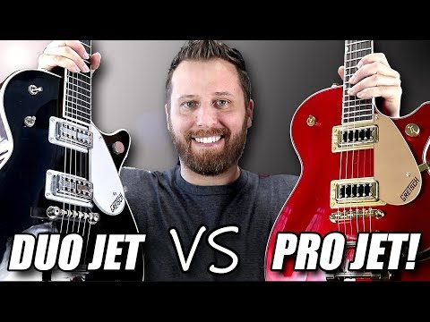 Duo Jet vs Pro Jet!  Gretsch Guitar Tone Comparison!