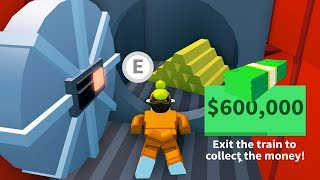 MAX CASH TRAIN ROBBERY EXPLOIT in JAILBREAK! ( Roblox )
