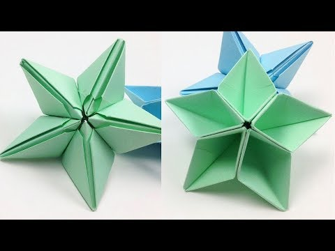 DIY Origami Star Ornaments Tutorial for Christmas | Easy ⭐ Christmas Dominata Star ⭐ Flower Crafts