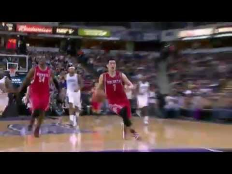 Jeremy Lin Dunks on Francisco Garcia