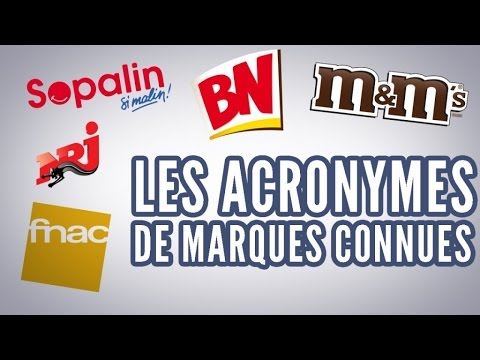 top 10 des acronymes de marques connues youtube. Black Bedroom Furniture Sets. Home Design Ideas