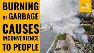 Burning of garbage spotted at Sec 12 in Dwarka