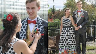 How This High School Couple Made Duct Tape Outfits For Prom