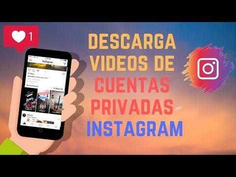 COMO DESCARGAR VIDEOS DE CUENTAS PRIVADAS en instagram