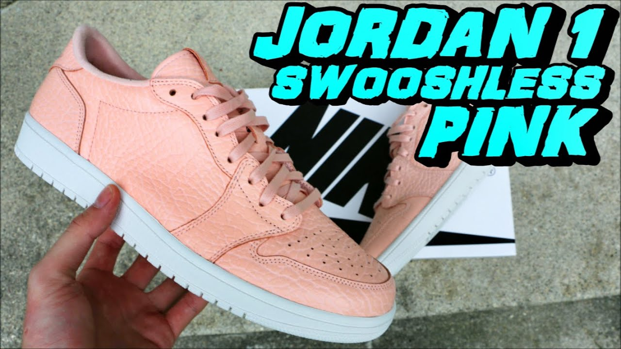promo code 08e4d 16194 Air Jordan 1 Low Swooshless Pink   Arctic Orange - Review + On Foot