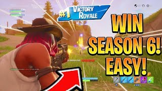 How to Win FIRST GAME in Season 6 Fortnite! Season 6 Best Tips and Tricks! (Fortnite Battle Royale)