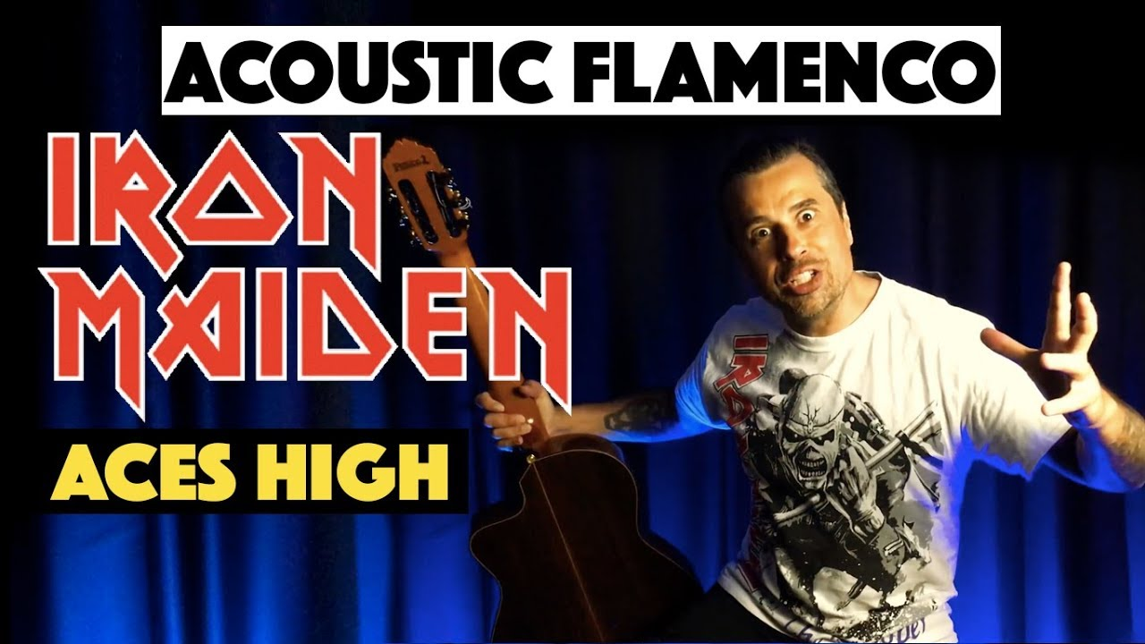 Aces High (Iron Maiden) - Ben Woods Acoustic Flamenco Guitar Solo
