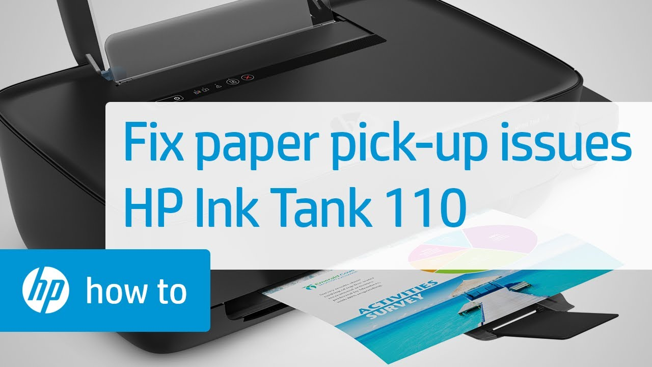 How To Fix Paper Pick-up Issues | HP Ink Tank 110 Printer Series | HP