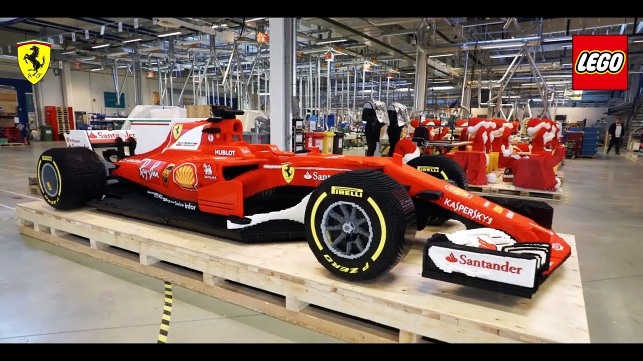 Lego Build Life Size Ferrari Sf70 H Formula 1 Car Youtube
