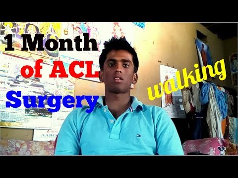 After 1 month of acl surgery || how I am walking after acl surgery.