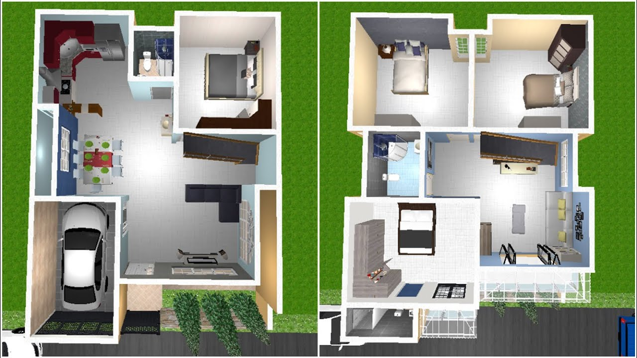 30x40 duplex house with car parking 4bhk 1200 sqft