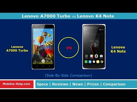 Review (Lenovo A7000 Turbo vs Lenovo K4 Note) Quick Comparison