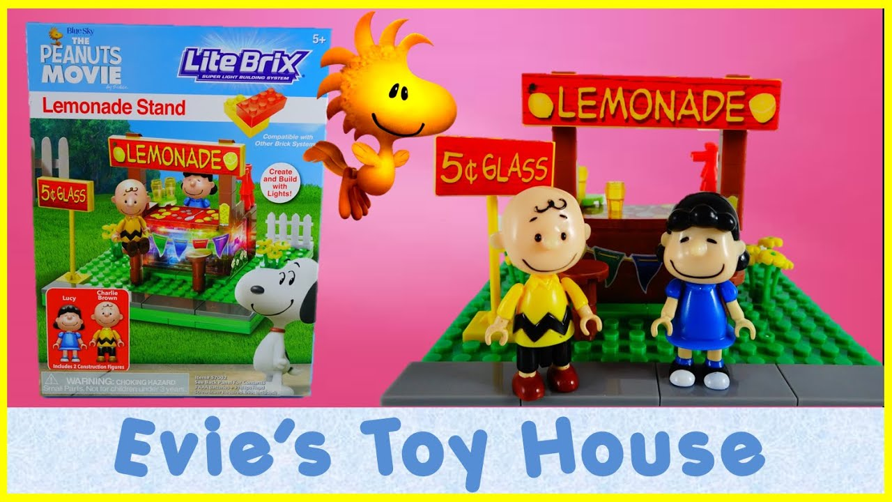Toys R Us Lemonade Stand : The peanuts movie lucy s lemonade stand lite brix