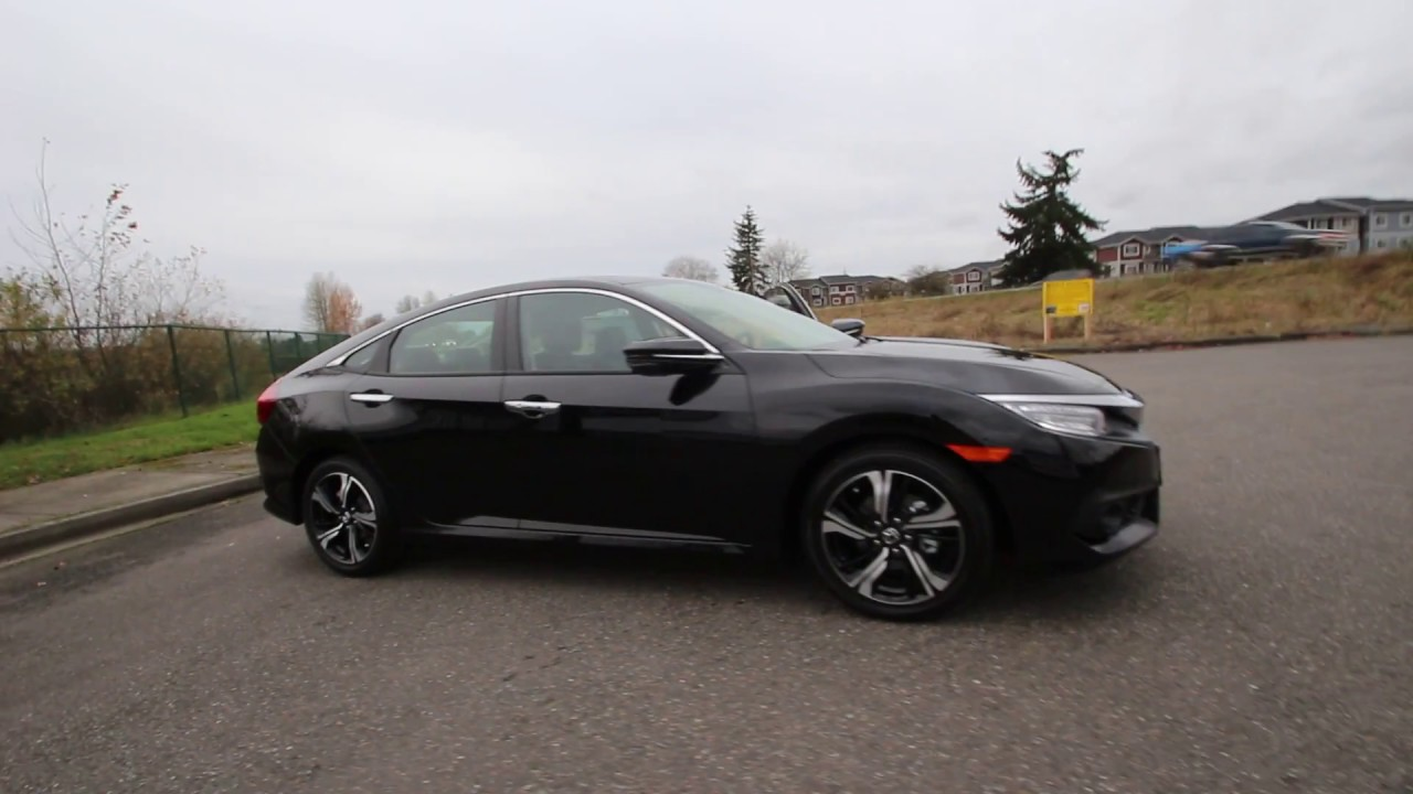 2017 honda civic touring black he201403 seattle for All black honda civic