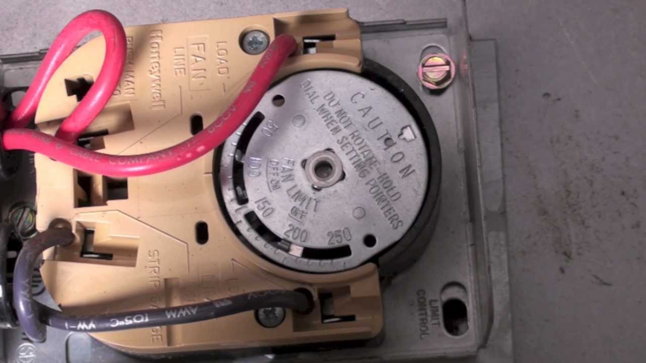 Electric Stove Wiring Diagram Obd1 How The Honeywell Fan And Limit Switch Works. - Youtube