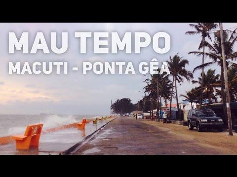 Moçambique - Beira - Mau tempo Macuti - Ponta Gêa