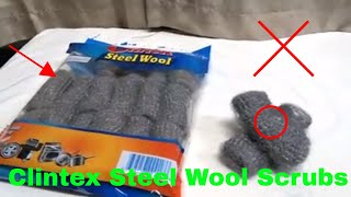 ✅  How To Use Cintex Steel Wool Scrubs Review