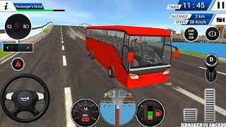 Euro Bus Driving Simulator 2018 - Red Bus Unlocked | Bus Transporter - Android Gameplay FHD
