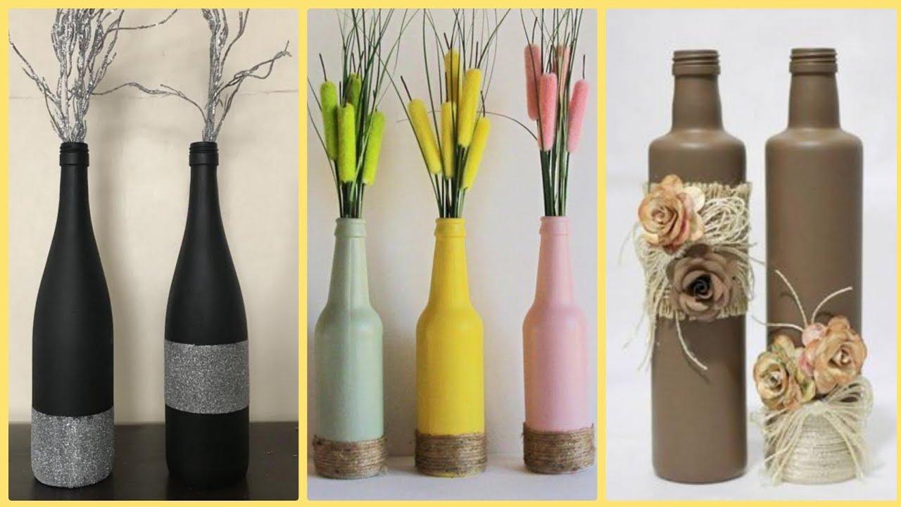 DIY Bottles Decoration Ideas,Wine Bottles Craft,Empty Wine Bottles Craft