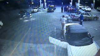 Surveillance video of shooting at Buena Vista gas station