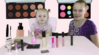 Челлендж макияж! Полина делает макияж маме! Makeup Challenge! Pauline does makeup mom!(, 2016-07-13T08:00:01.000Z)