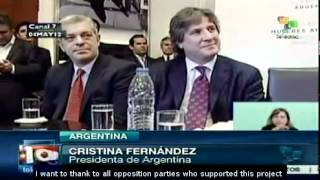 Cristina Fernández enacts YPF nationalization law