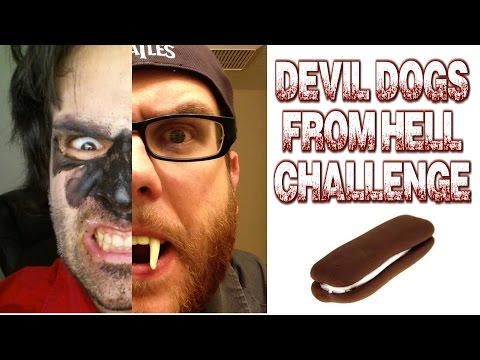 Dozen Devil Dogs of Hell Challenge w/ Tracy G #Halloween | FreakEating Challenge Special