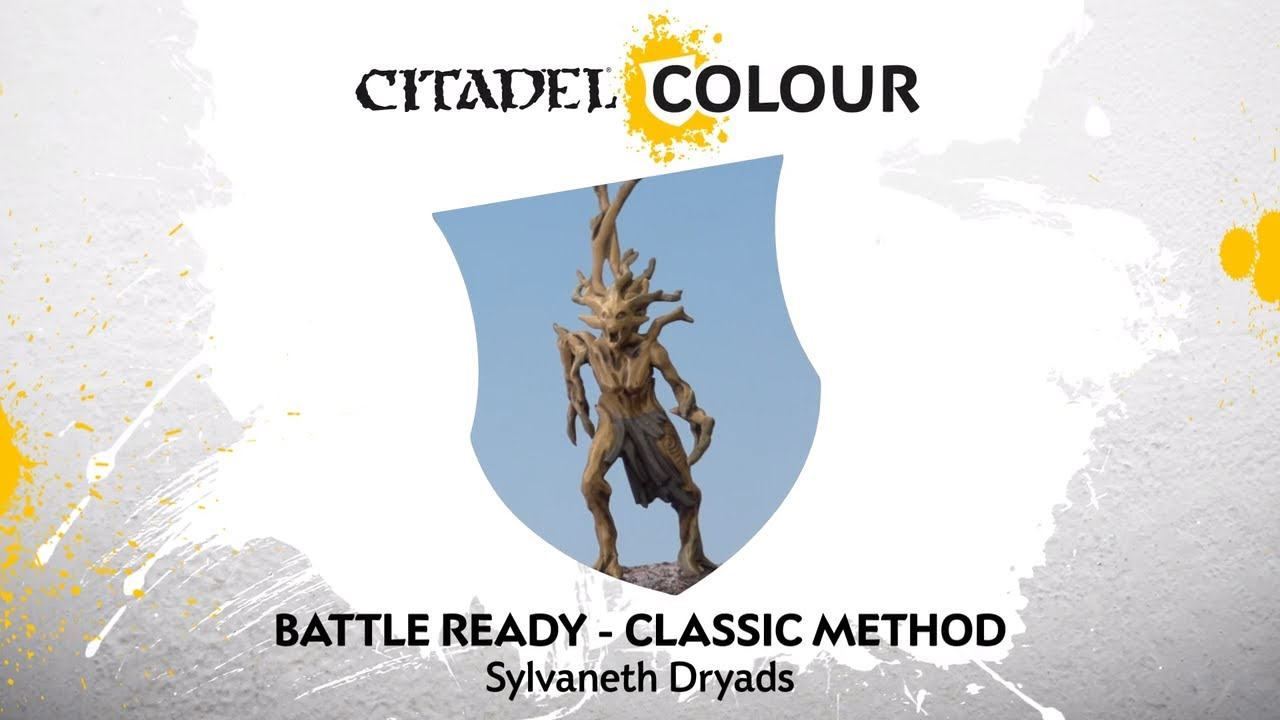 How To Paint Battle Ready Sylvaneth Dryads Classic Method Youtube