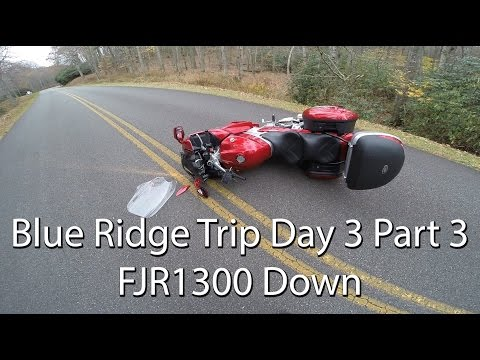 Blue Ridge Parkway Motorcycle Trip Day 3 Part 3 of 3 FJR1300