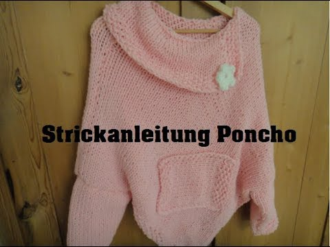 Strickanleitung Poncho Teil 1 Youtube