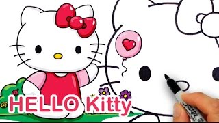 How to Draw Cute Sanrio Hello Kitty step by step Easy