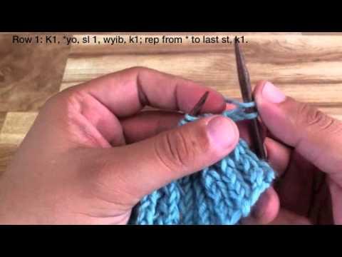 How To Knit The Rick Rib Stitch