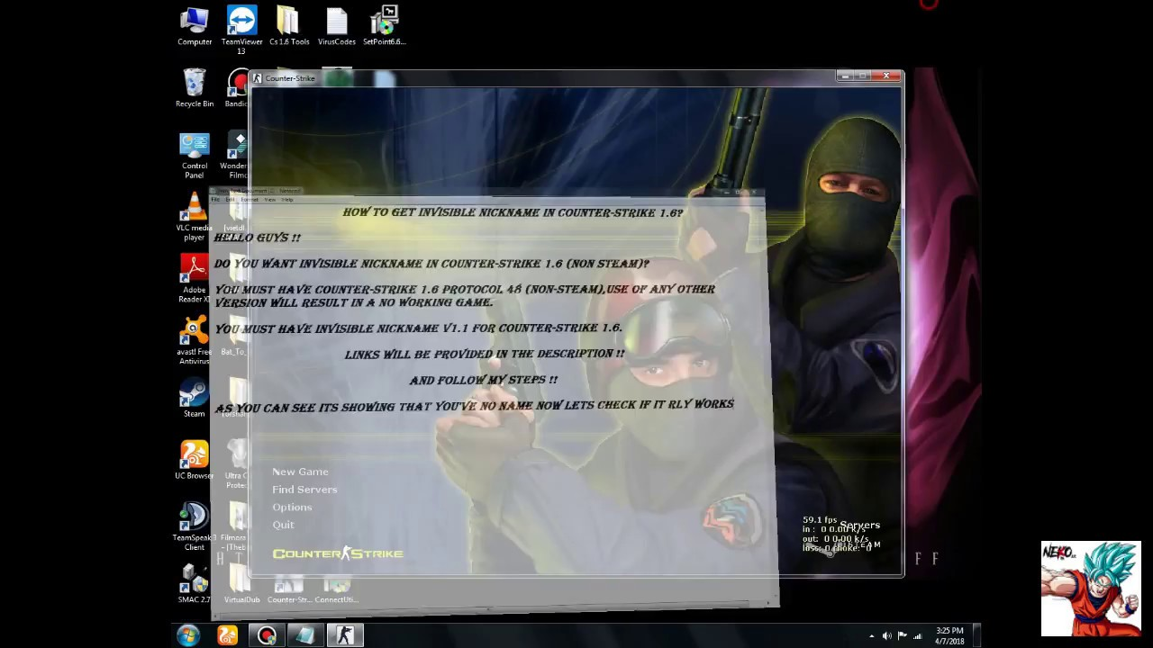 Counter-Strike 1 6 Invisible Nickname v1 1 [NON-STEAM]