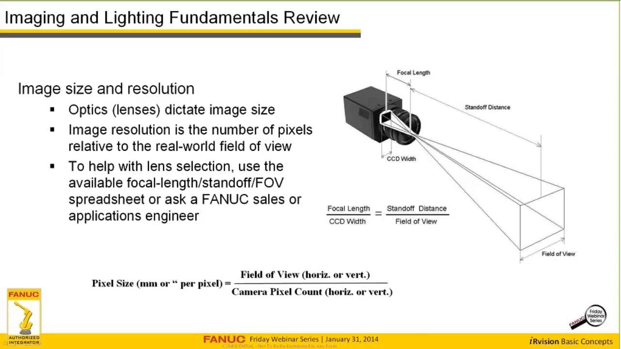 How to Set Up A FANUC iRVision 2D Fixed Camera  YouTube