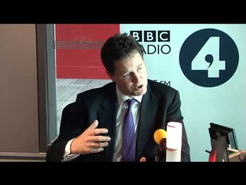 Liberal Democrat Leader Nick Clegg on The World at One, BBC Radio 4 - Vote 2013