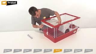 Сборка клетки для кроликов и морских свинок Ferplast BARN