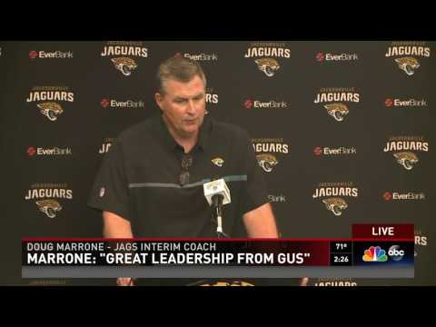 Interim Jaguars coach Doug Marrone addresses the media