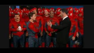 Real Tom Holland Spider-Man: Homecoming backflip on Jimmy Kimmel LIVE