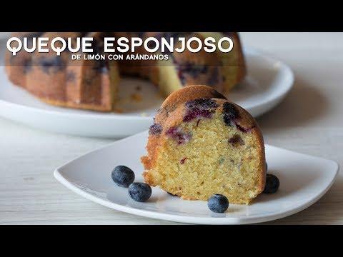 COMO PREPARAR CAKE ESPONJOSO (KEKE) DE LIMÓN CON ARÁNDANOS