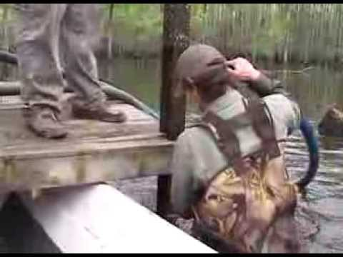 Building A Duck Blind In The Swamp With Ure A Duck Decoys