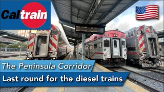 CALTRAIN REVIEW! Last round for the diesel train before the electrification
