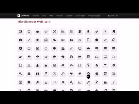 LivIcons - Truly Animated Vector Icons