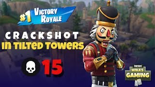 Crackshot in Tilted Towers | HIGH KILL SOLO GAMEPLAY | Fortnite Battle Royale